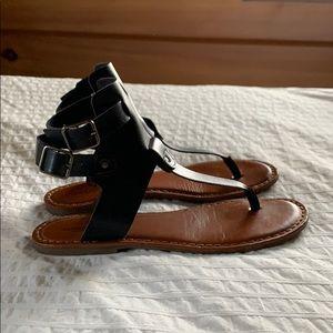 Black American Eagle Boho Gladiator Sandals